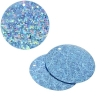 Sequins Hologram 30mm 1mm Hole Round Blue